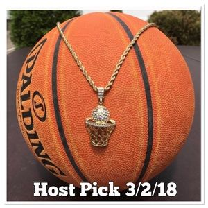 Other - Hip Hop Basketball Charm and chain